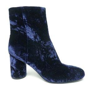 NWOB Marc Fisher Gemi Booties Blue Velvet Size 8.5